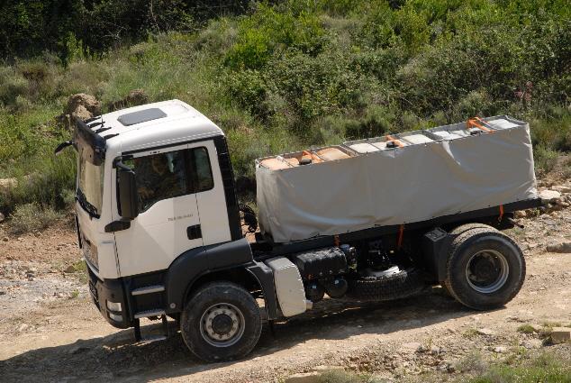 El concepto Hydrodrive permite dotar de tracción un eje directriz sin gran incremento de tara.