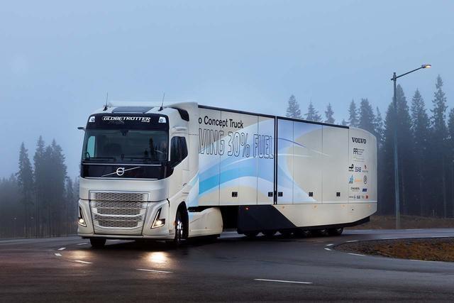Volvo Trucks crea un prototipo híbrido para el transporte pesado de larga distancia.