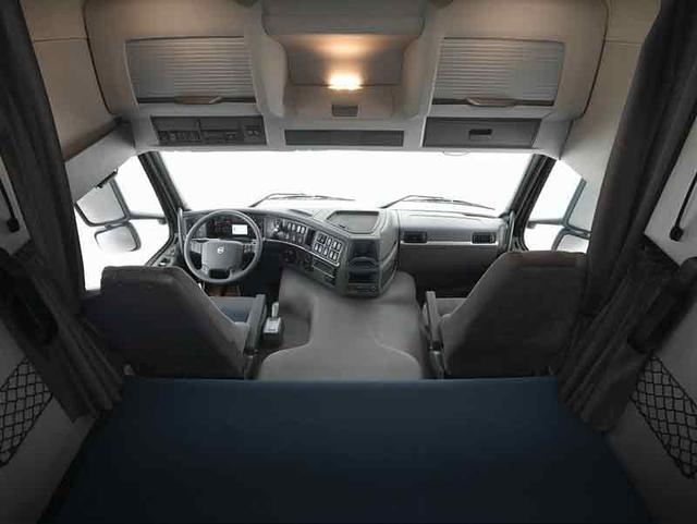 La cabina Globetrotter aporta la máxima habitabilidad interior al Volvo FM.
