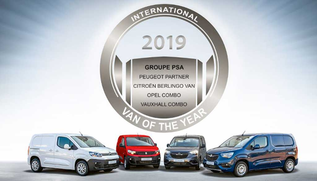 El Grupo PSA gana el premio International Van of the Year 2019