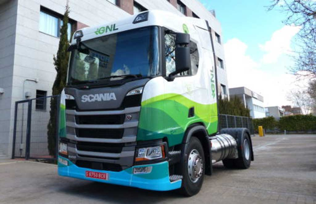 Tractora Scania a gas natural
