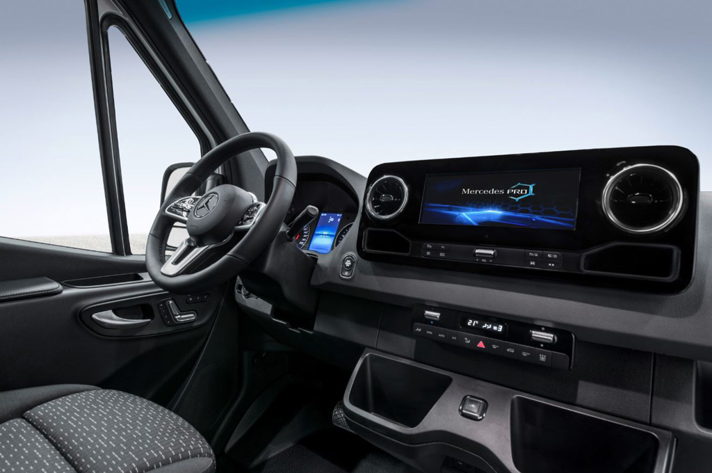 Interior del nuevo Mercedes-Benz Sprinter