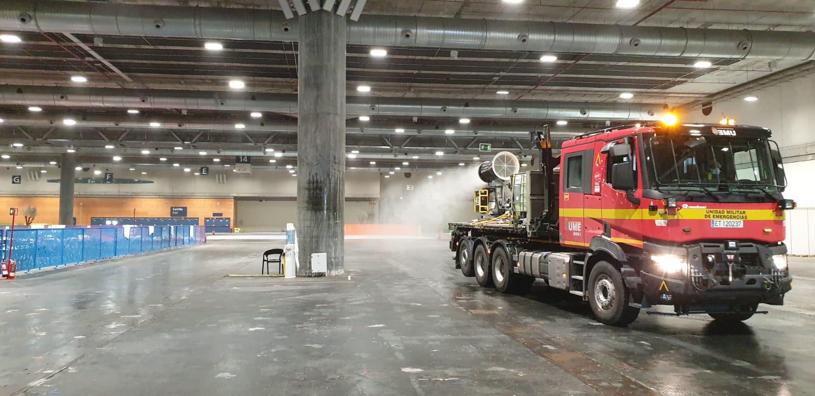 La Unidad Militar de Emergencias equipa camiones Renault Trucks.