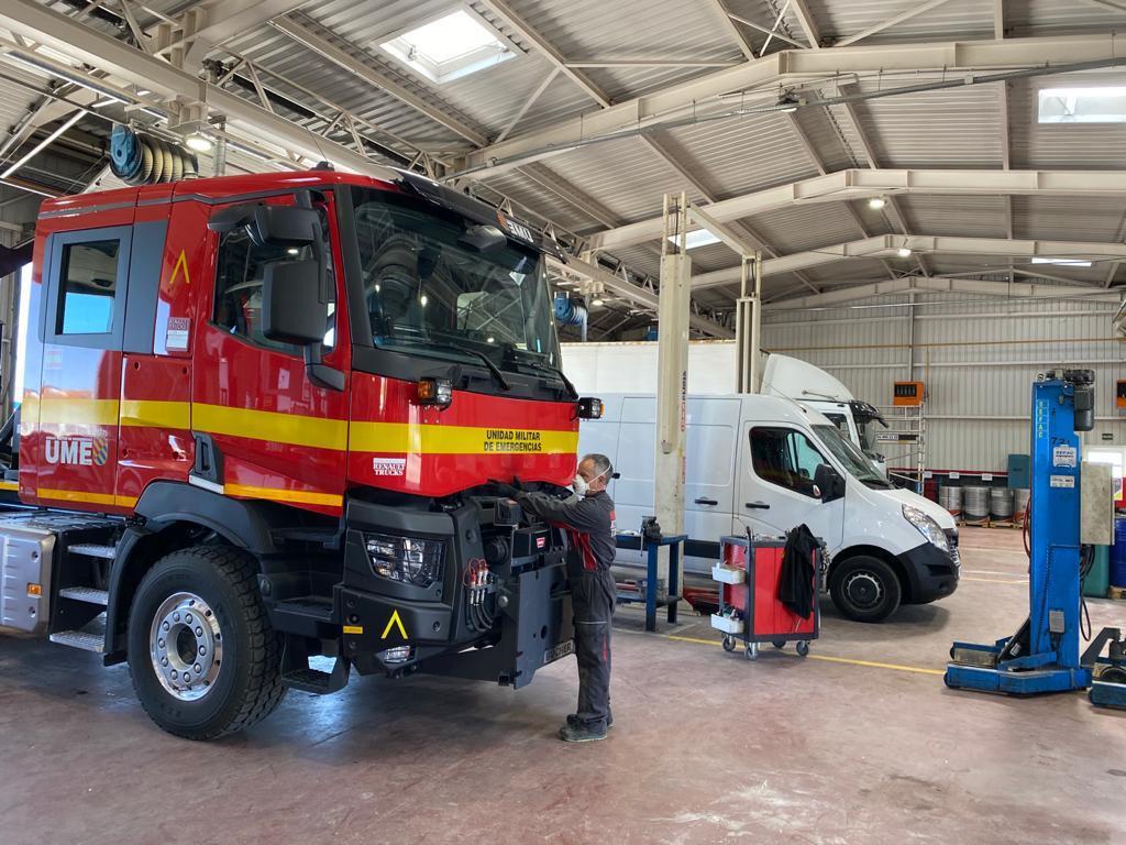 Los talleres de Renault Trucks se han mantenido operativos casi al cien por cien.