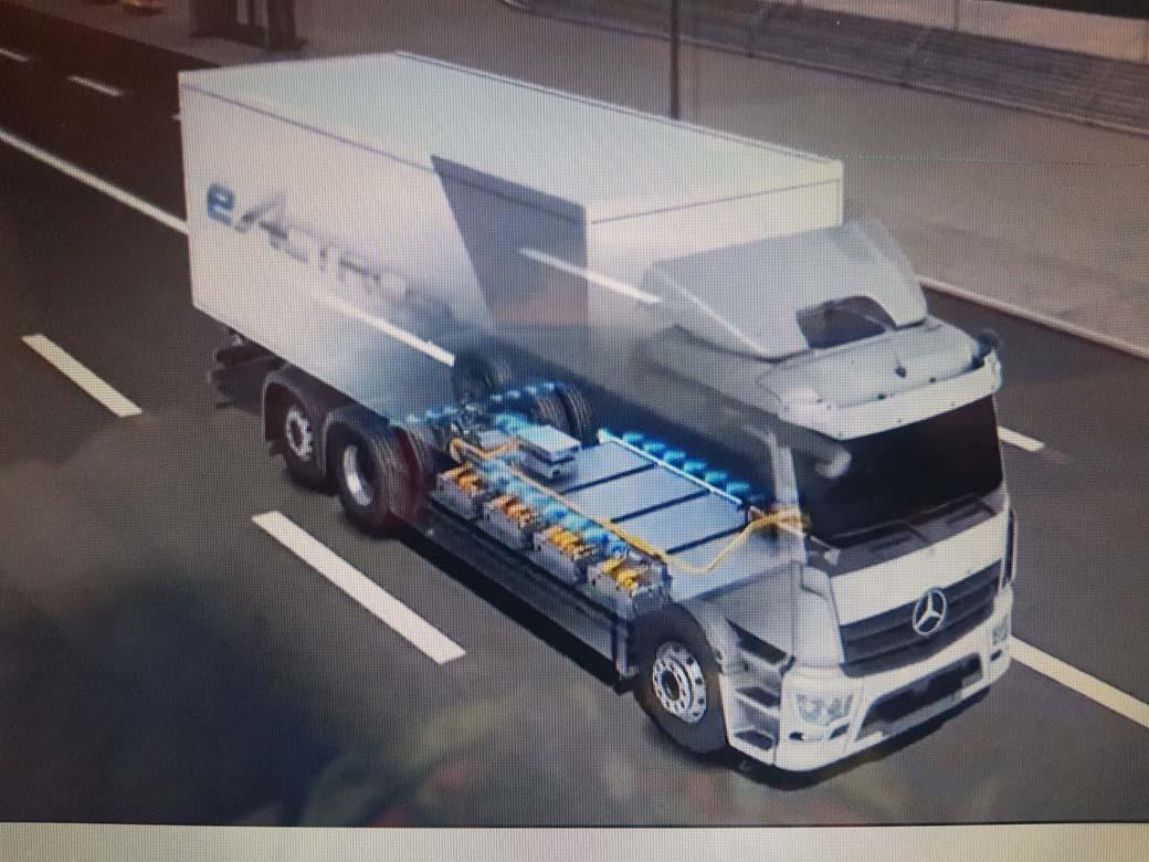 eActros de Mercedes Benz Trucks estará en el mercado en 2023 con 500 kms de autonomía alimentado por baterías.