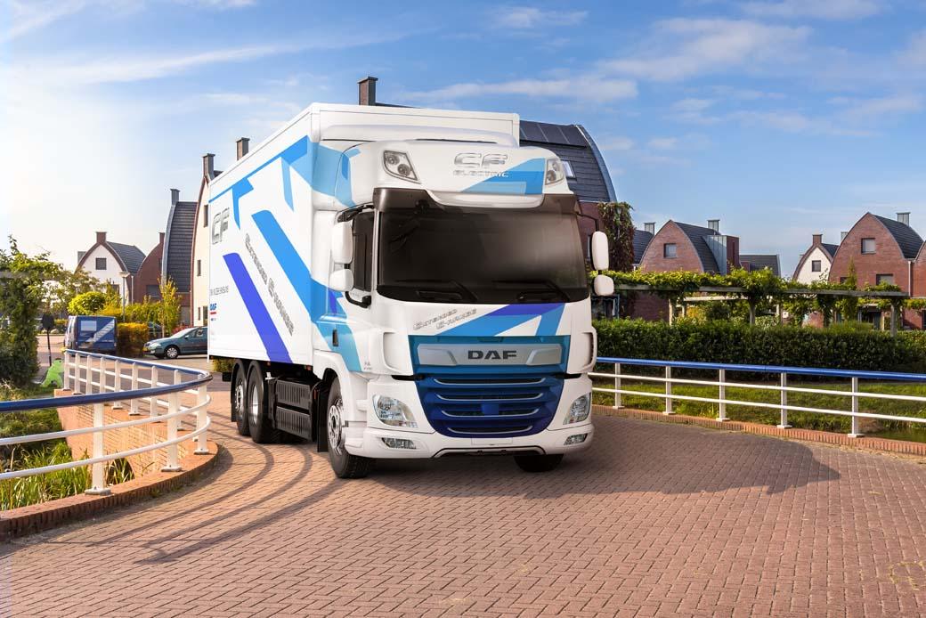 DAF mejora la autonomía de su camión CF eléctrico.