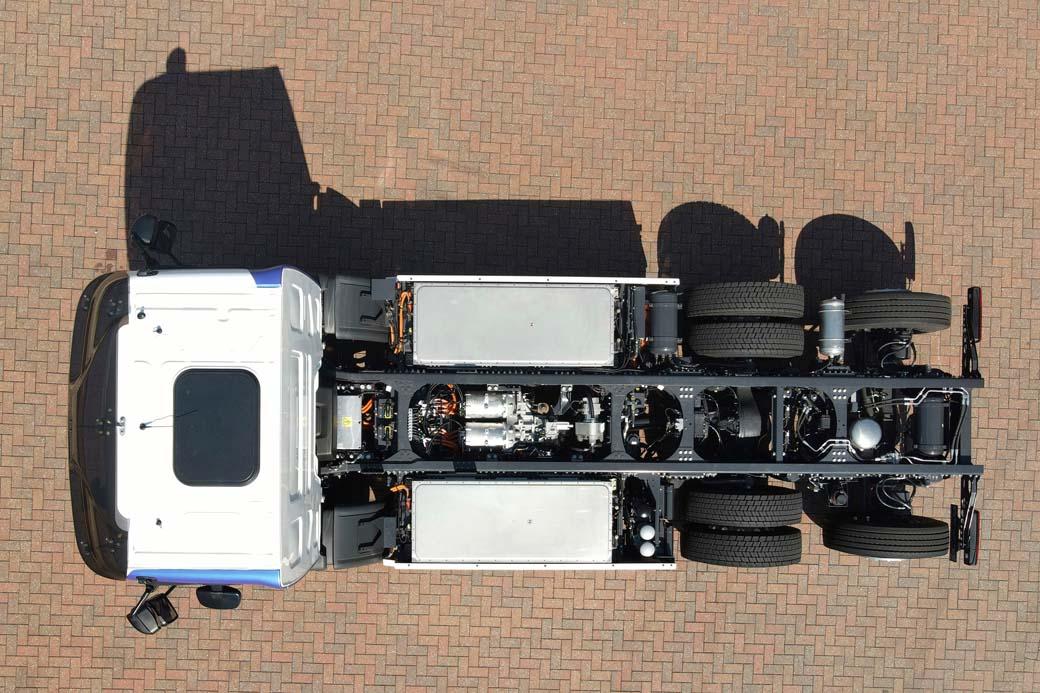 Disposición del chasis 6X2 del Renault Trucks D Wide Z.E.