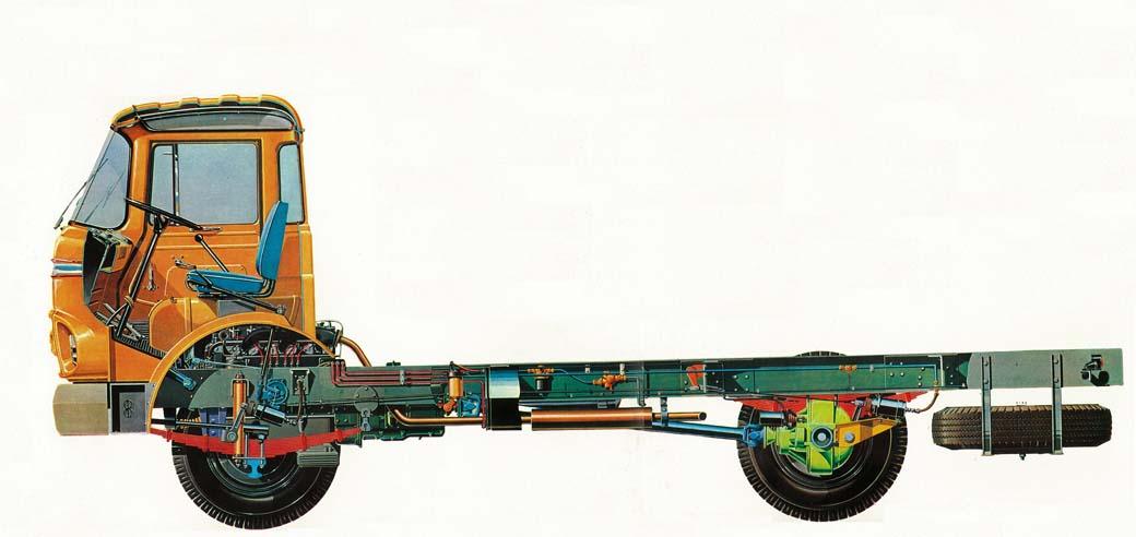 Esquema técnico del Barreiros Saeta 65 para 6.500 kilogramos de carga útil.