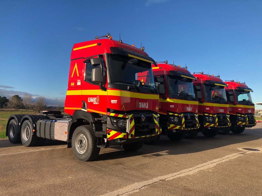 Tractoras Serie K 520 6X4 de Renault Trucks para la Unidad Militar de Emergencias.