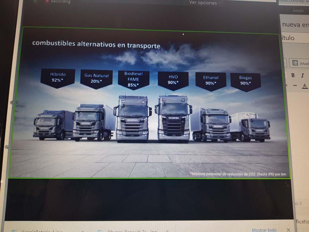 Scania ofrece camiones alimentados por todo tipo de combustibles.