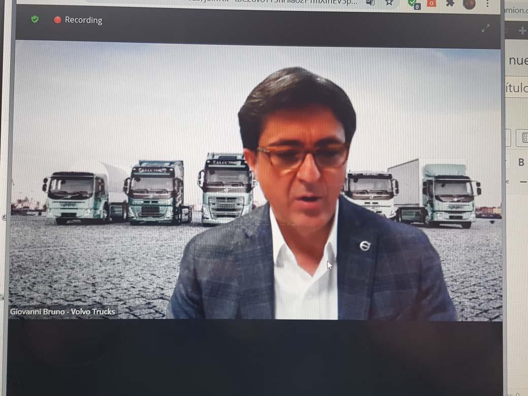 Giovanni Bruno responsable de Volvo Trucks en el mercado español.