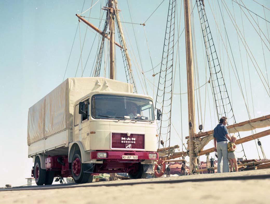 Modelo Büssing - MAN de motor subchasis ya con la nueva cabina cúbica en 1973.