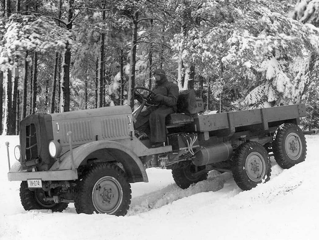 Camión MAN con motor diésel 6X6, modelo militar unificado de 1940.