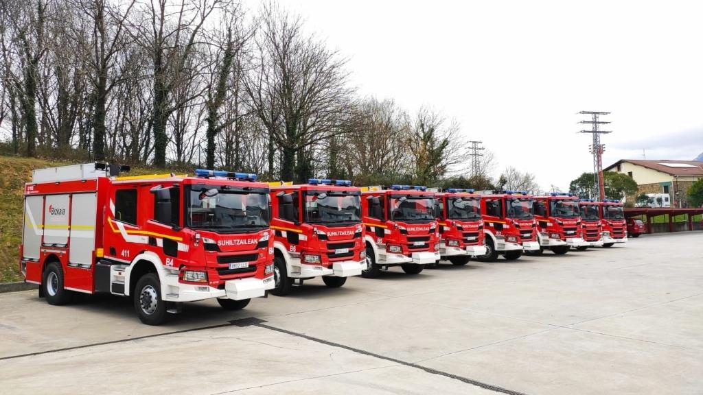 Vizcaya renueva la flota de bomberos