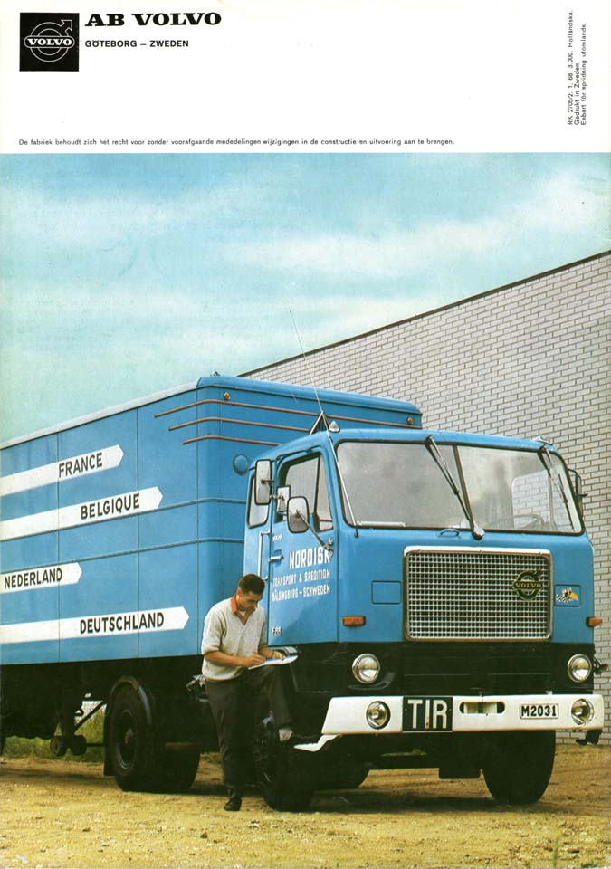 Con los F88 y F89 los Volvo labraron una fama de fiabilidad en el TIR de larga distancia.