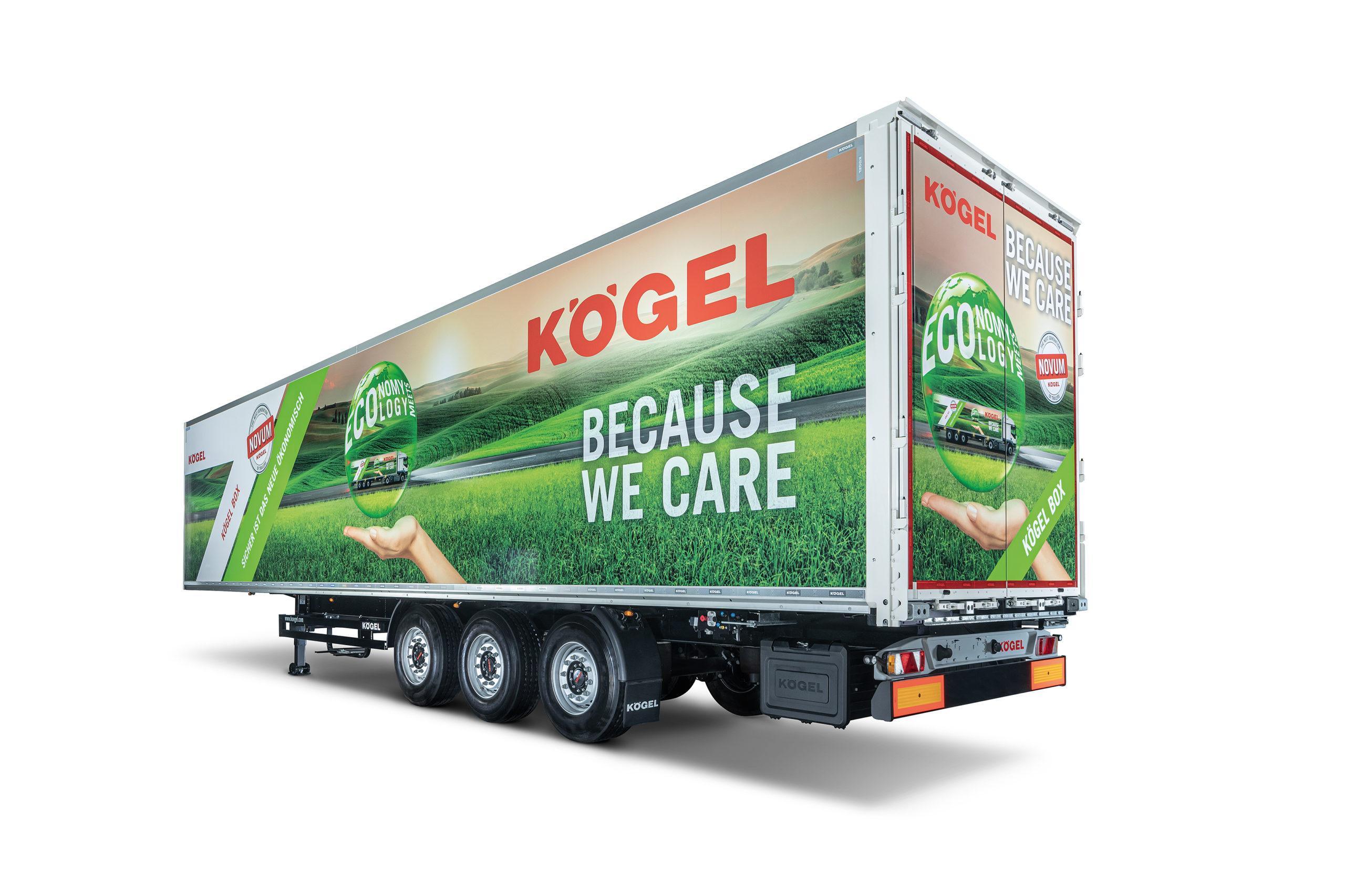 Semirremolque furgón Kögel Box de la generación Novum.