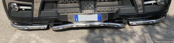 Kit tubos defensa con led para montaje en Mercedes Benz Actros,modelo actual.