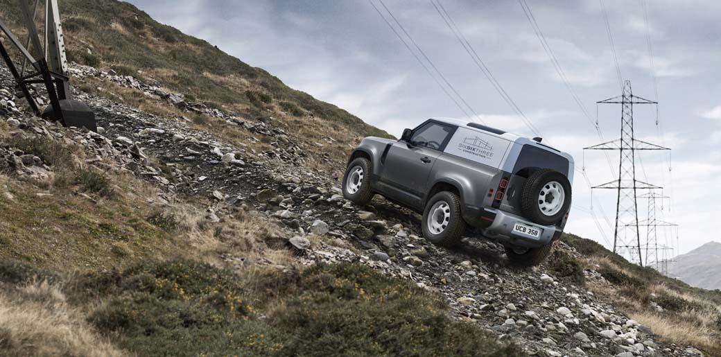 HardTop es la versión para uso profesional del Land Rover Defender 4X4.