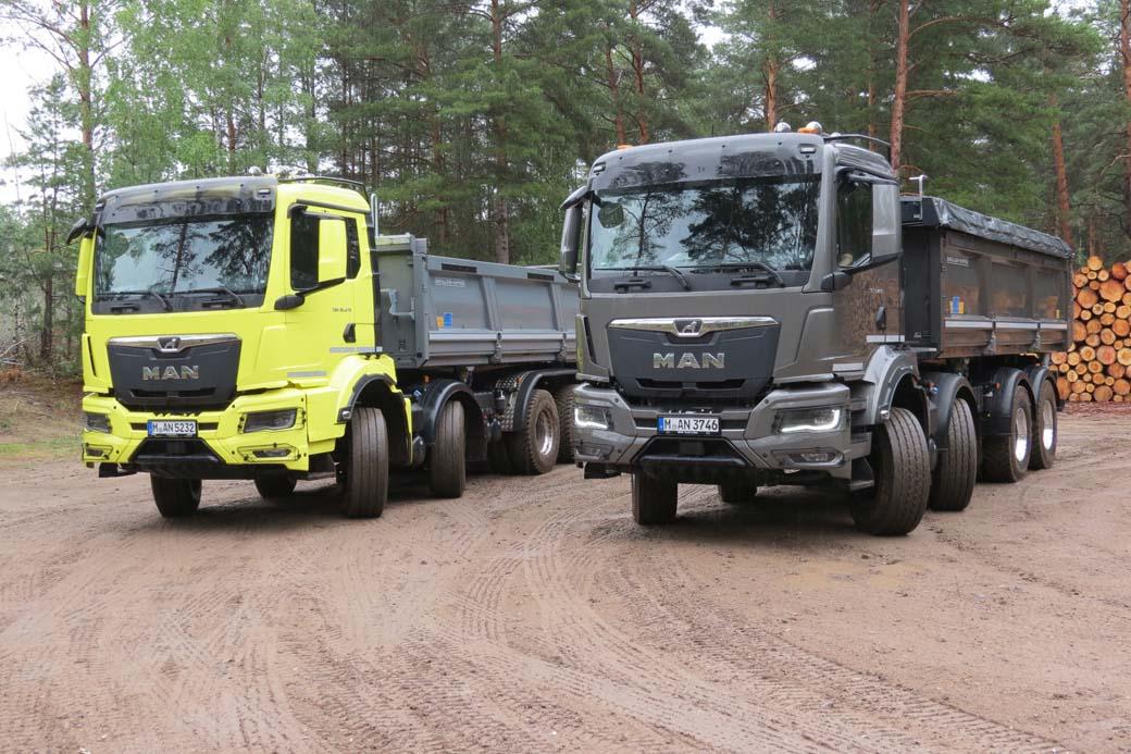 La serie pesada TGS en versión rígido de hasta cuatro ejes y configuraciones de tracción 8X4 y 8X8 son los grandes protagonistas en la serie para obras y construcción de MAN Truck & Bus.