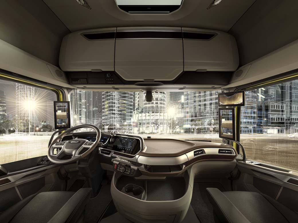 El nuevo parabrisas de las cabinas DAF XF, XG y XG+ incrementa sensiblemente la visibilidad del conductor.