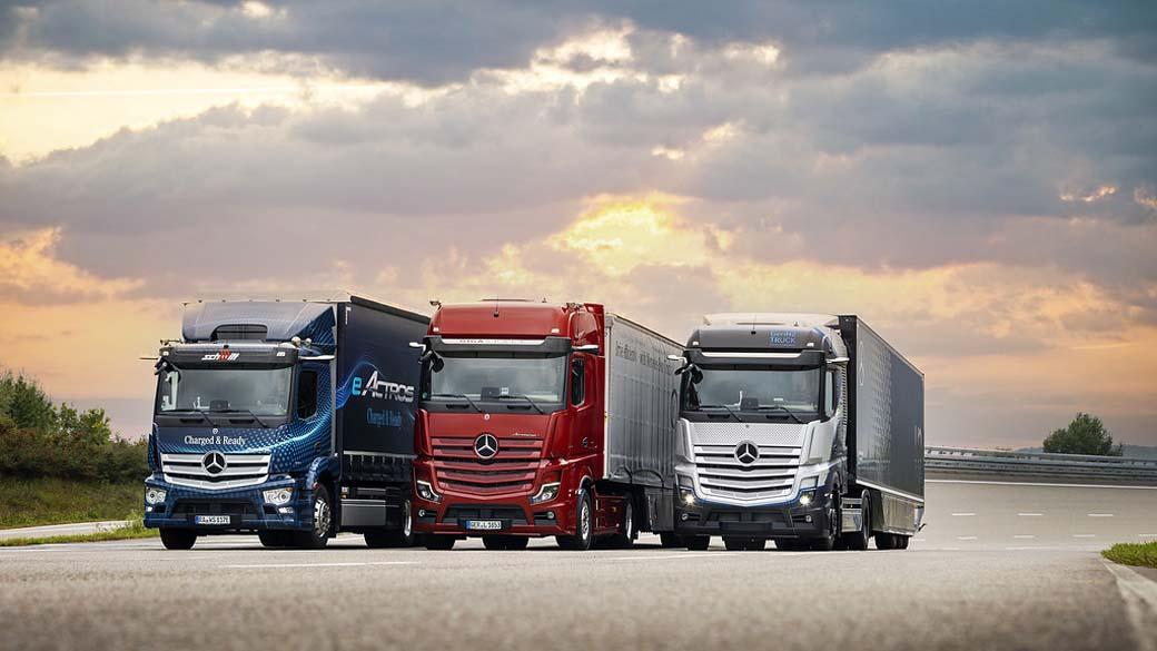 A lo largo de esta década el transporte según Mercedes Benz combinará el eActros en radio local y regional, los Actros diésel en largo recorrido, junto a la introducción del GENH2 Truck a hidrógeno también para largo recorrido sin emisiones.