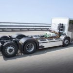 Este chasis 6X2 del eEconic eléctrico puede incrementar su MMA hasta las 27 T para compensar el sobrepeso de las baterías.