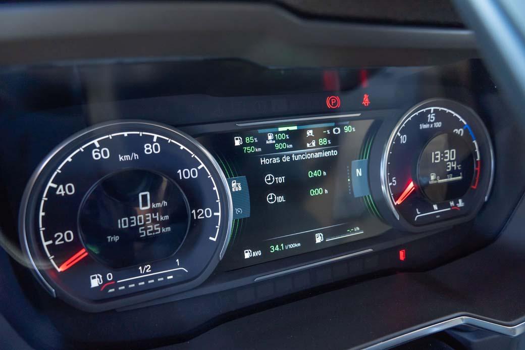 El buen rendimiento de este motor 13 litros desde 1.000 rpm hasta 1.300 rpm es clave en la obtención de consumos ajustados.
